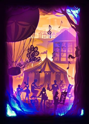 Editorial Illustration based on Bournemouth Fringe Festival