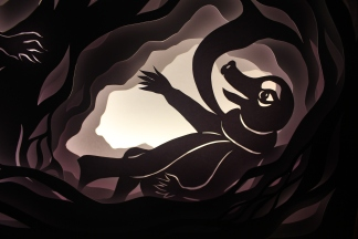 """'The Rat crept into the hollow, and there he found the Mole, exhausted and still trembling. """"O Rat!"""" he cried, """"I've been so frightened, you can't think!""""...'"""